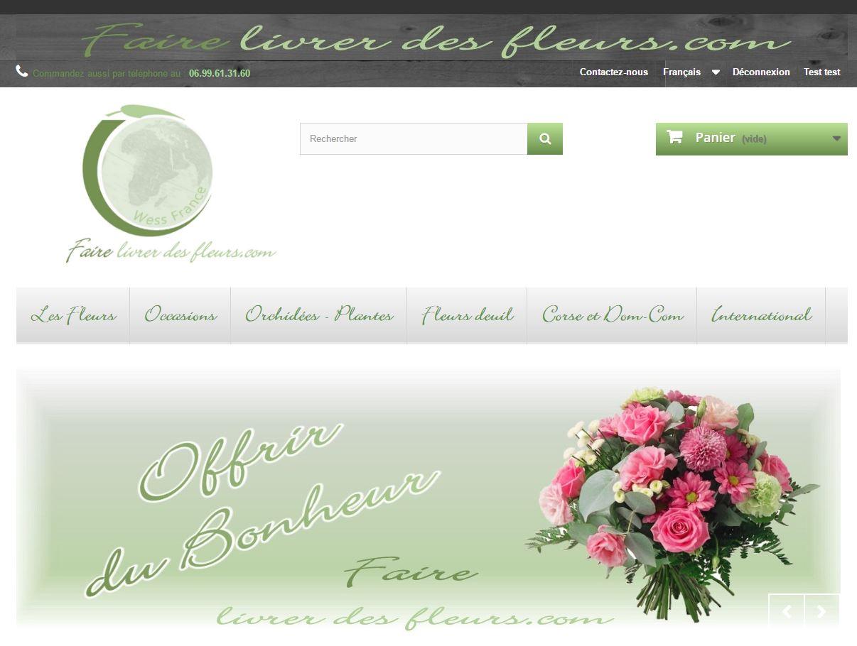 Faire livrer des fleurs com wess france for Livrer des fleurs demain